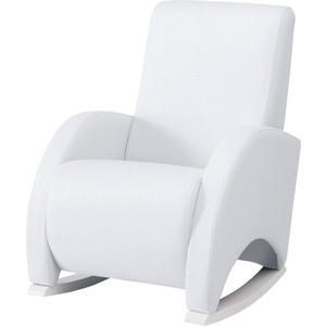 Кресло качалка Micuna Wing/Confort white/white искусственная кожа