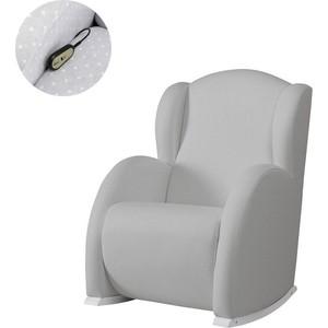 Кресло качалка Micuna Wing/Flor Relax white/grey искусственная кожа