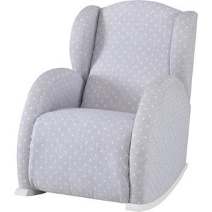Кресло качалка Micuna Wing/Flor white/grey galaxy