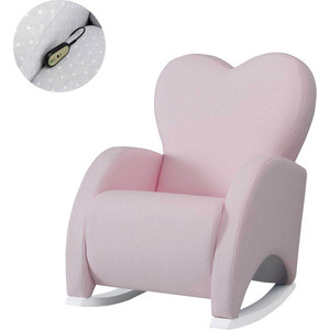 Кресло качалка Micuna Wing/Love Relax white/pink искусственная кожа