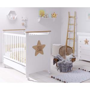 Кроватка Micuna Baby Star 120*60 white/waterwood