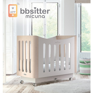 Кроватка Micuna Babysitter 120*60 white/water wood
