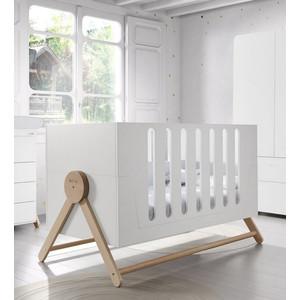 Кроватка Micuna Swing Big Relax 140*70 white/water wood