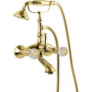 Смеситель для ванны Cezares Atlantis золото, ручки Swarovski металл (ATLANTIS-VD-03/24-Sw/M)