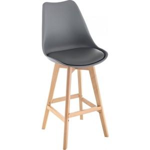Барный стул Woodville Burbon серый