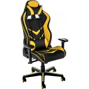 Кресло Woodville Racer черное/желтое