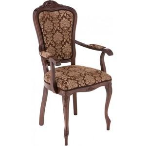 Кресло Woodville Руджеро с мягкими подлокотниками орех/шоколад