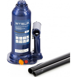 Домкрат гидравлический бутылочный Stels 4 т, h подъема 188-363 мм, в кейсе (51174) цена