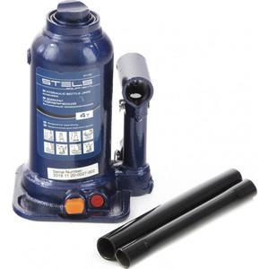 Домкрат гидравлический бутылочный Stels 4 т, подъем 170-420 мм (51145) домкрат гидравлический бутылочный телескопический stels 8т 170 430мм 51118