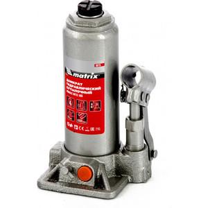 Домкрат гидравлический бутылочный Matrix 4 т, h подъема 194-372 мм, в кейсе (50775)