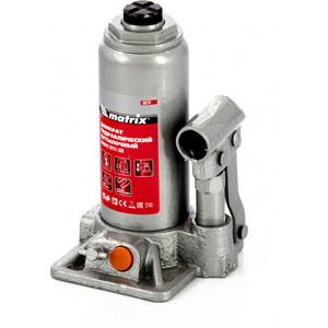 Домкрат гидравлический бутылочный Matrix 3 т, h подъема 178-343 мм, в кейсе (50774)