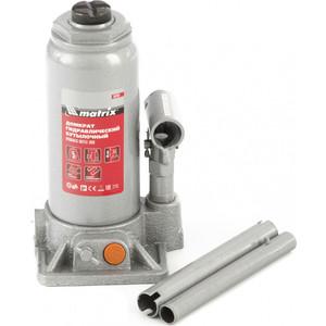 Домкрат гидравлический бутылочный Matrix 5 т, h подъема 197-382 мм (50764) цена