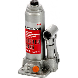 Домкрат гидравлический бутылочный Matrix 2 т, h подъема 181-345 мм (50761)