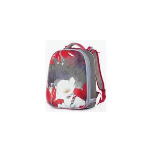 Ранец с жестким каркасом BRAUBERG дополнительный объем, для девочек, Цветы, 39х28х19 см