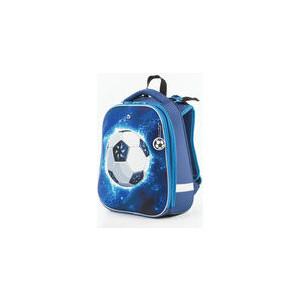 Ранец с жестким каркасом BRAUBERG PREMIUM для мальчиков, Футбол, 38х29х18 см, 227814 brauberg ранец premium колибри 227821 голубой