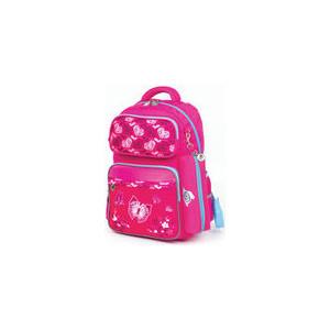 Рюкзак Юнландия с пеналом в комплекте, эрго-спинка, для девочек, Бабочки, 42х29х14 см