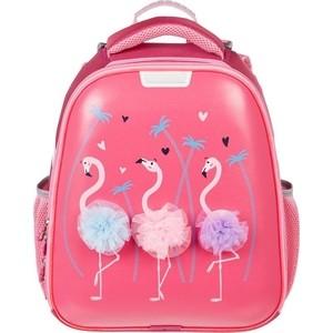 Ранец №1 School Basic Flamingo, 2 отд., ортоп.спинка, экокожа, светящ. кант телефонная розетка abb bjb basic 55 шато 1 разъем цвет черный