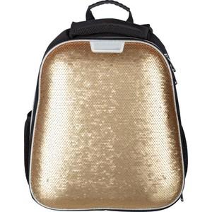 Ранец №1 School Sparkle Gold, ортопед. спинка, двустор.пайетки все цены