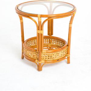 Стол со стеклом Vinotti 02/15A AR коньяк
