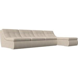 Угловой модульный диван Лига Диванов Холидей рогожка бежевый