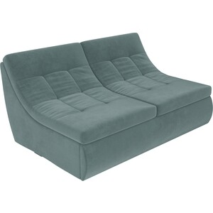 Модуль Лига Диванов Холидей раскладной диван велюр бирюза