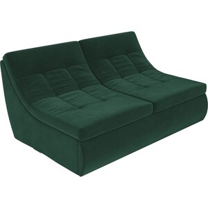 Модуль Лига Диванов Холидей раскладной диван велюр зеленый