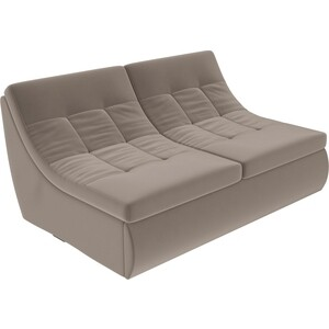 Модуль Лига Диванов Холидей раскладной диван велюр коричневый