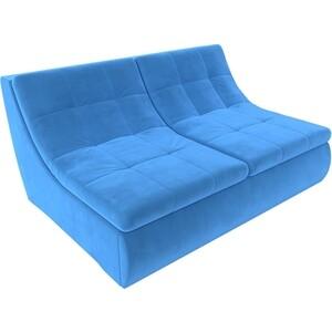 Модуль Лига Диванов Холидей раскладной диван велюр синий