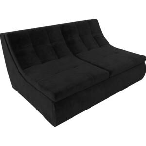 Модуль Лига Диванов Холидей раскладной диван велюр черный