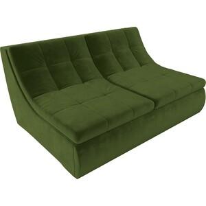 Модуль Лига Диванов Холидей раскладной диван микровельвет зеленый