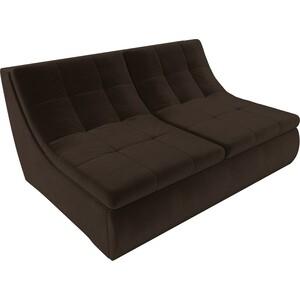 Модуль Лига Диванов Холидей раскладной диван микровельвет коричневый