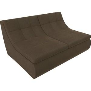 Модуль Лига Диванов Холидей раскладной диван рогожка коричневый