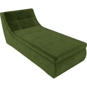 Модуль Лига Диванов Холидей канапе микровельвет зеленый модуль лига диванов холидей канапе велюр зеленый