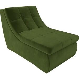 Модуль Лига Диванов Холидей кресло микровельвет зеленый