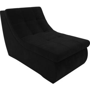 Модуль Лига Диванов Холидей кресло микровельвет черный