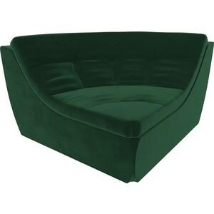 Модуль Лига Диванов Холидей угол велюр зеленый модуль лига диванов холидей канапе велюр зеленый
