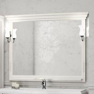 Зеркало Opadiris Риспекто 120 с светильниками, белый матовый 9003 (Z0000012656 + Z0000006243)