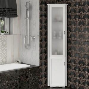 Пенал Opadiris Клио 35 белый матовый, левый, с матовым стеклом (00-00000223) недорого
