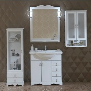 Мебель для ванной Opadiris Клио 80 белый матовый opadiris мебель для ванной opadiris карат 80 серебряная патина
