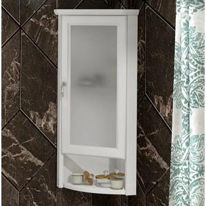 Шкаф Opadiris Клио 32 угловой, правый, с матовым стеклом, белый матовый 9003 (Z0000014863) шкаф opadiris клио z0000003907