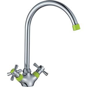 Смеситель для кухни Decoroom хром/зеленый (DR46028-Green)