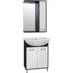 Фото - Мебель для ванной Style line Эко Стиль 50 W №9 белая, венге, напольная мебель для ванной style line эко стандарт 90 26 белая напольная