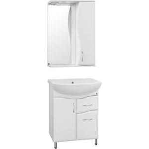 Фото - Мебель для ванной Style line Эко 55 Волна №11 белая, напольная мебель для ванной style line эко стандарт 90 26 белая напольная