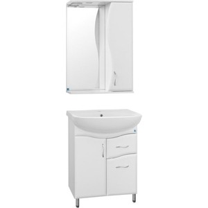 Мебель для ванной Style line Эко 55 Волна №11 белая, напольная