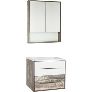 Мебель для ванной Style line Экзотик 65 бетон экзотик, белый глянец, Бали
