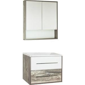 Мебель для ванной Style line Экзотик 75 бетон экзотик, белый глянец, Бали