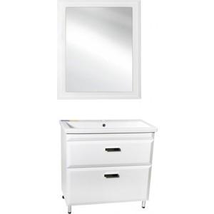 Мебель для ванной Style line Лотос Люкс 80 белая, напольная мебель для ванной style line даймонд люкс 80 белая