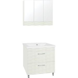 Мебель для ванной Style line Ассоль 80 техно платина