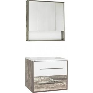 Мебель для ванной Style line Экзотик 80 бетон экзотик, белый глянец, Бали