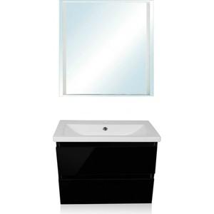цена на Мебель для ванной Style line Даймонд Люкс 80 черная